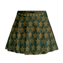 Stars Pattern Background Mini Flare Skirt