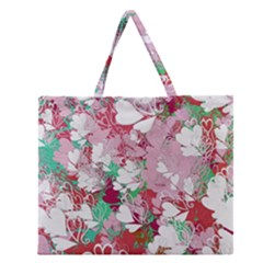 Confetti Hearts Digital Love Heart Background Pattern Zipper Large Tote Bag
