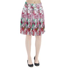 Confetti Hearts Digital Love Heart Background Pattern Pleated Skirt
