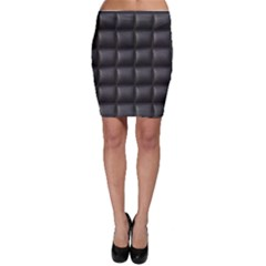 Black Cell Leather Retro Car Seat Textures Bodycon Skirt