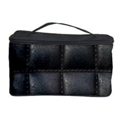 Black Cell Leather Retro Car Seat Textures Cosmetic Storage Case
