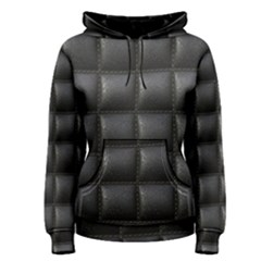 Black Cell Leather Retro Car Seat Textures Women s Pullover Hoodie