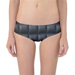 Black Cell Leather Retro Car Seat Textures Classic Bikini Bottoms