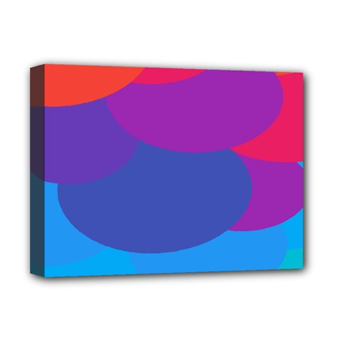 Circles Colorful Balloon Circle Purple Blue Red Orange Deluxe Canvas 16  x 12