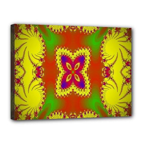 Digital Color Ornament Canvas 16  x 12
