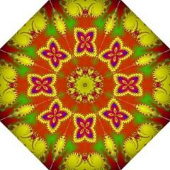 Digital Color Ornament Folding Umbrellas