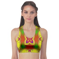 Digital Color Ornament Sports Bra