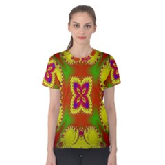 Digital Color Ornament Women s Cotton Tee