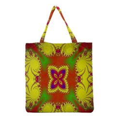 Digital Color Ornament Grocery Tote Bag