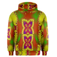Digital Color Ornament Men s Pullover Hoodie