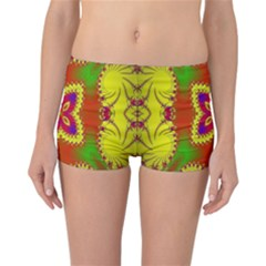 Digital Color Ornament Reversible Bikini Bottoms
