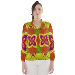 Digital Color Ornament Wind Breaker (Women)