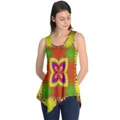 Digital Color Ornament Sleeveless Tunic