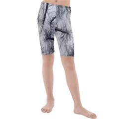 Trees Without Leaves Kids  Mid Length Swim Shorts