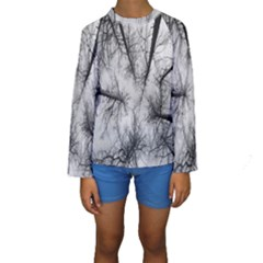 Trees Without Leaves Kids  Long Sleeve Swimwear