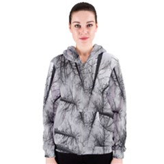 Trees Without Leaves Women s Zipper Hoodie