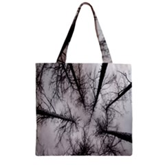 Trees Without Leaves Zipper Grocery Tote Bag
