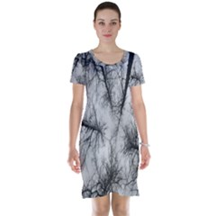 Trees Without Leaves Short Sleeve Nightdress