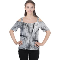 Trees Without Leaves Women s Cutout Shoulder Tee