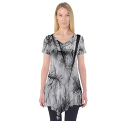 Trees Without Leaves Short Sleeve Tunic