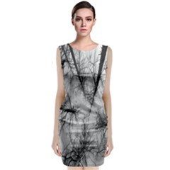 Trees Without Leaves Classic Sleeveless Midi Dress