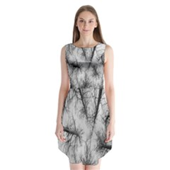 Trees Without Leaves Sleeveless Chiffon Dress