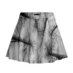 Trees Without Leaves Mini Flare Skirt