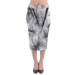 Trees Without Leaves Midi Pencil Skirt