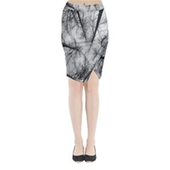 Trees Without Leaves Midi Wrap Pencil Skirt
