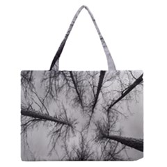 Trees Without Leaves Medium Zipper Tote Bag