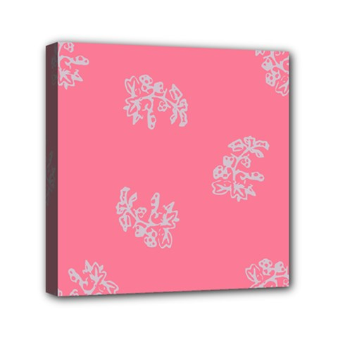 Branch Berries Seamless Red Grey Pink Mini Canvas 6  x 6