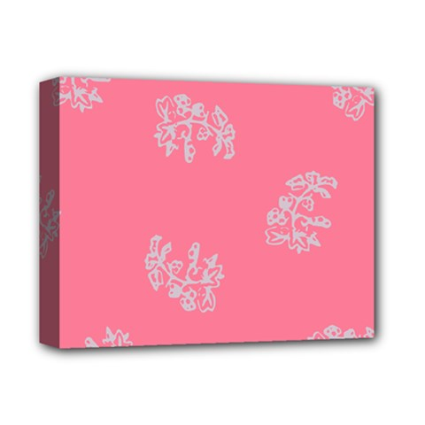 Branch Berries Seamless Red Grey Pink Deluxe Canvas 14  x 11