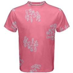 Branch Berries Seamless Red Grey Pink Men s Cotton Tee