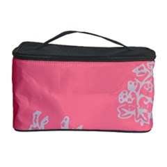 Branch Berries Seamless Red Grey Pink Cosmetic Storage Case