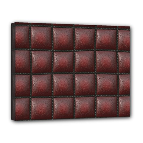Red Cell Leather Retro Car Seat Textures Canvas 14  x 11