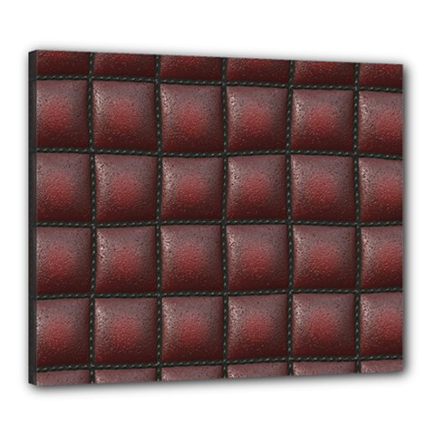 Red Cell Leather Retro Car Seat Textures Canvas 24  x 20