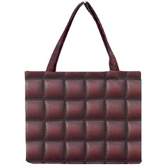 Red Cell Leather Retro Car Seat Textures Mini Tote Bag