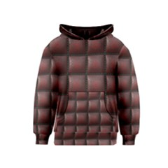Red Cell Leather Retro Car Seat Textures Kids  Pullover Hoodie