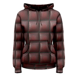 Red Cell Leather Retro Car Seat Textures Women s Pullover Hoodie