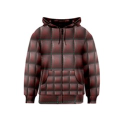 Red Cell Leather Retro Car Seat Textures Kids  Zipper Hoodie