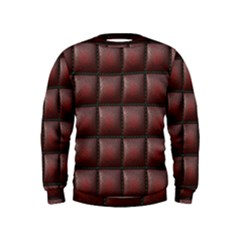 Red Cell Leather Retro Car Seat Textures Kids  Sweatshirt