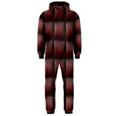 Red Cell Leather Retro Car Seat Textures Hooded Jumpsuit (Men)