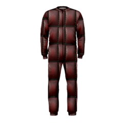 Red Cell Leather Retro Car Seat Textures Onepiece Jumpsuit (kids)