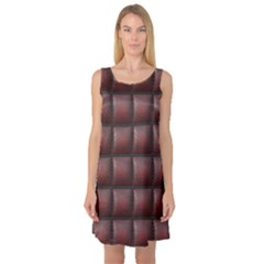 Red Cell Leather Retro Car Seat Textures Sleeveless Satin Nightdress