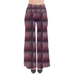 Red Cell Leather Retro Car Seat Textures Pants