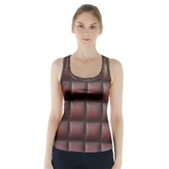 Red Cell Leather Retro Car Seat Textures Racer Back Sports Top