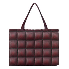 Red Cell Leather Retro Car Seat Textures Medium Tote Bag