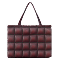 Red Cell Leather Retro Car Seat Textures Medium Zipper Tote Bag