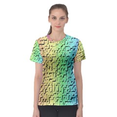 A Creative Colorful Background Women s Sport Mesh Tee