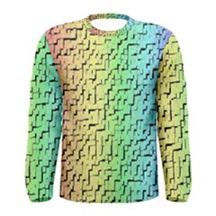 A Creative Colorful Background Men s Long Sleeve Tee